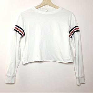 3/20💫 GARAGE   White long sleeve crop size XS